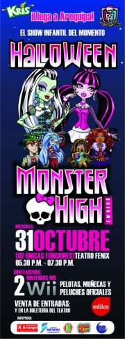 Monster High Halloween en Arequipa (31 oct)