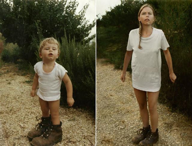 De volta ao futuro - Fotos de menina criança e adulta no mato - Gnvision