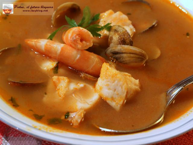 Sopa de pescado y marisco tattoo design bild - Sopa de marisco y pescado ...