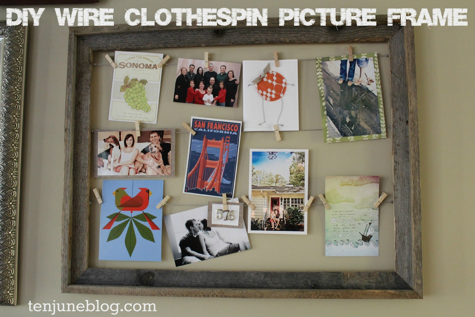 ten june diy wire clothespin picture frame