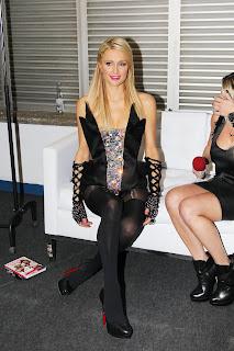 Paris Hilton In Mock Stockings