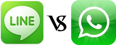 Mensajeria Whatsapp vs Line Naver