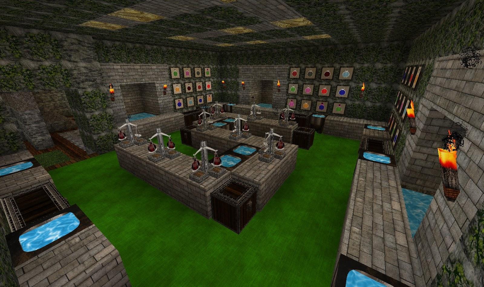 Minecraft Alchemy Room Design