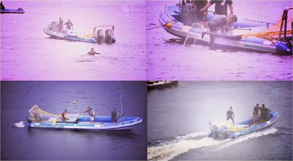 Khatron Ke Khiladi contestants on boat in last grand finale stunt