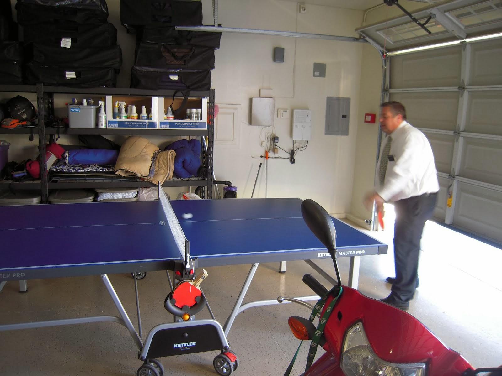 President Van Cott Playing Ping Pong