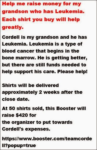 T-Shirts To Benefit Cordell Sharkuski