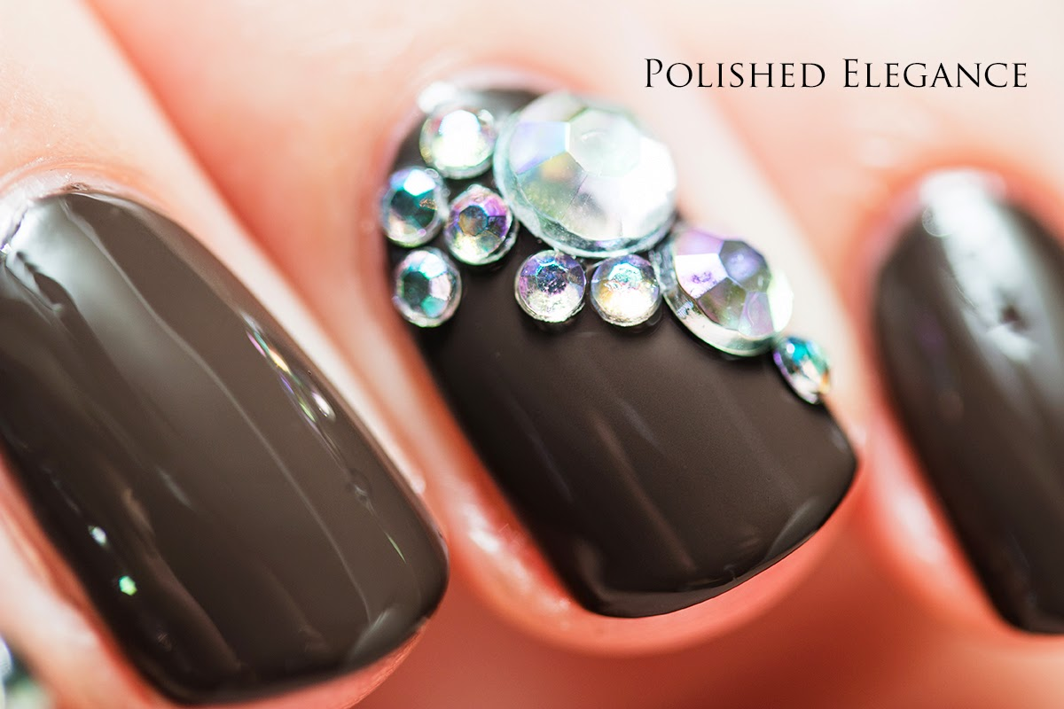 OPI - How Great Is Your Dane? swatch review nail polish rhinestone nail art manicure