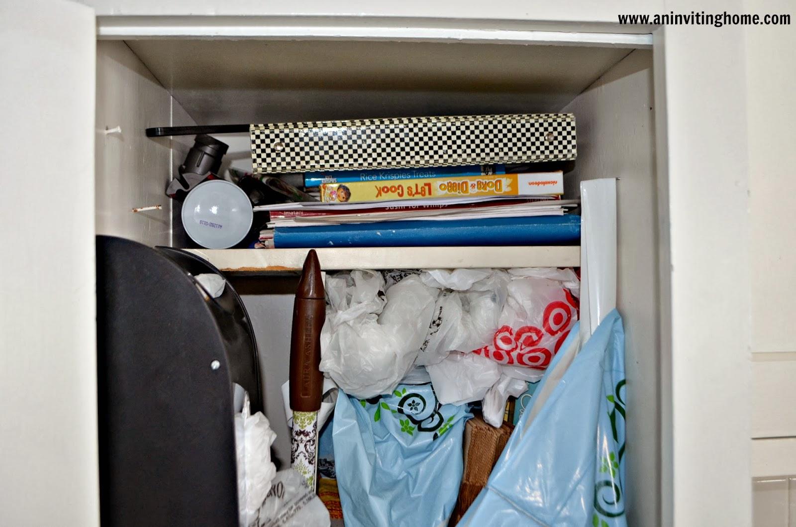 organizing a broom closet
