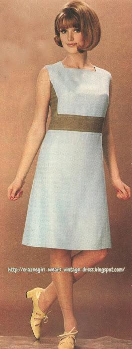 1966 colorblock dress 60s 1960