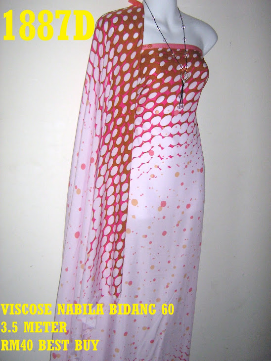 VN 1887D: VISCOSE NABILA BIDANG 60 INCI, 3.5 METER