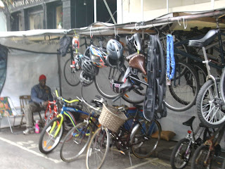 bike stall on Lower Marsh, SE1