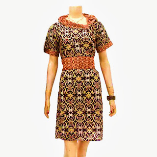 DB3245  Model Baju Dress Batik Modern Terbaru 2013