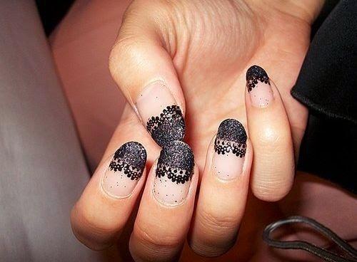 Lace nail, Lace