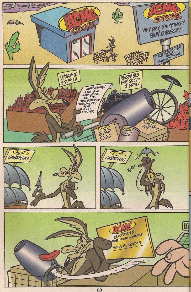 comic coyote e road runner strip wile