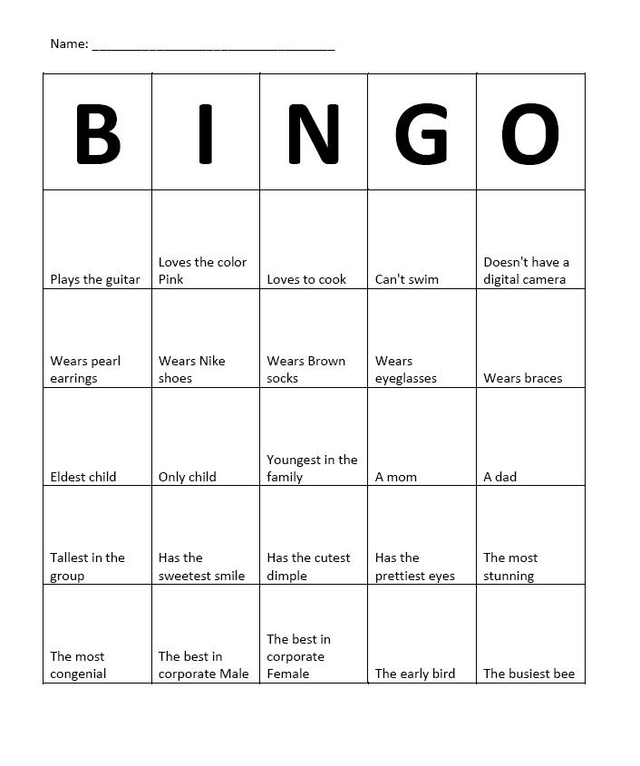 ice breaker bingo template - god 39 s work in progress interesting ice breaker team