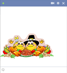 Thanksgiving Facebook Smileys