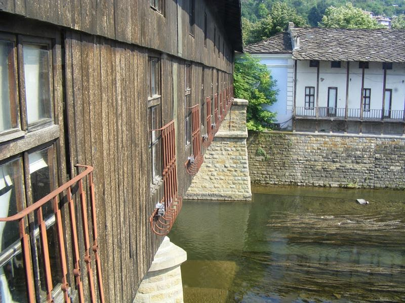 "The Covered Bridge in the town of Lovech, Bulgaria. The name comes from an old Bulgarian word meaning ""River City"". The bridge crosses the Osam River, connecting the old ""Varosha"" and new town parts of Lovech, being possibly the most recognisable symbol of the town."