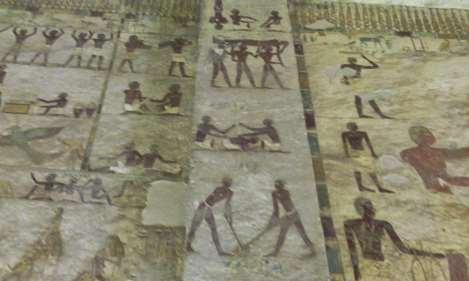 مشهد للألعاب الرياضية من مقابر بنى حسن بالمنيا