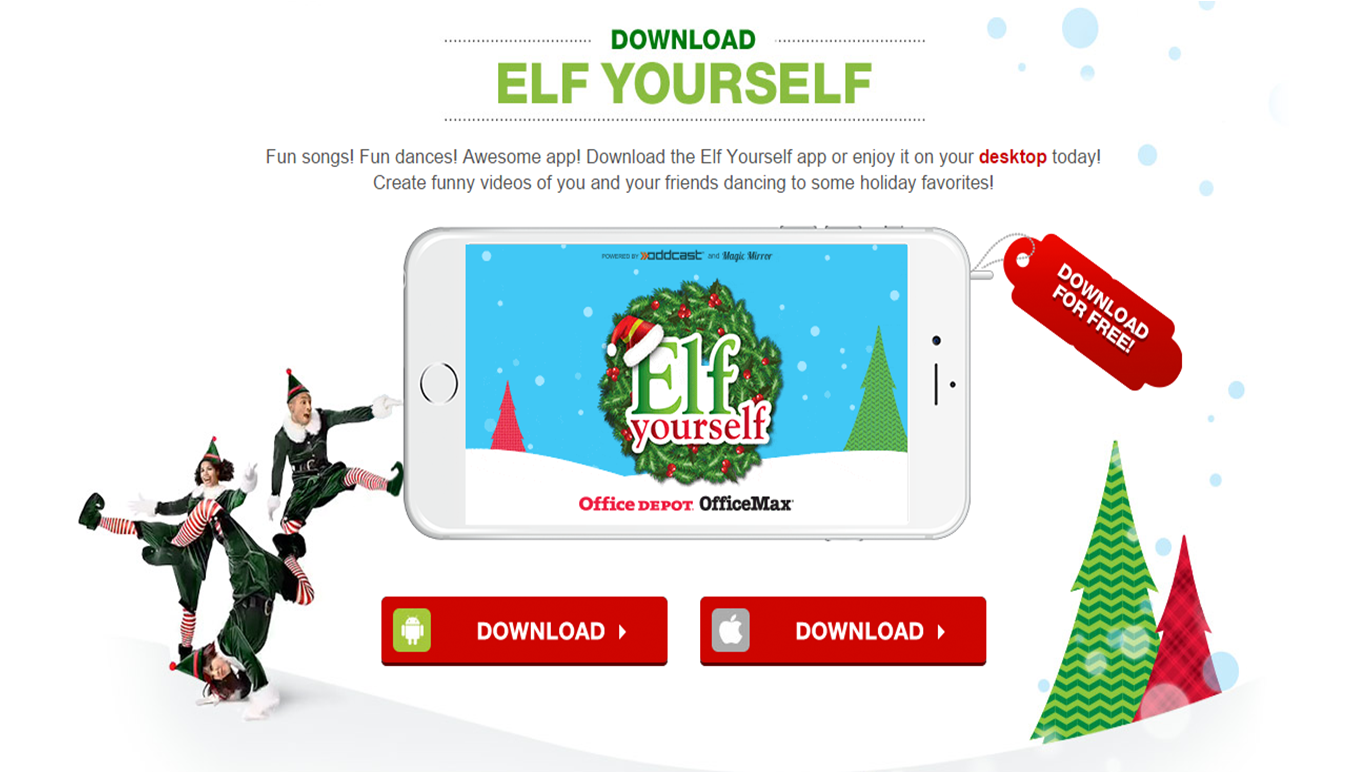 ElfYourself 2014 mobile app