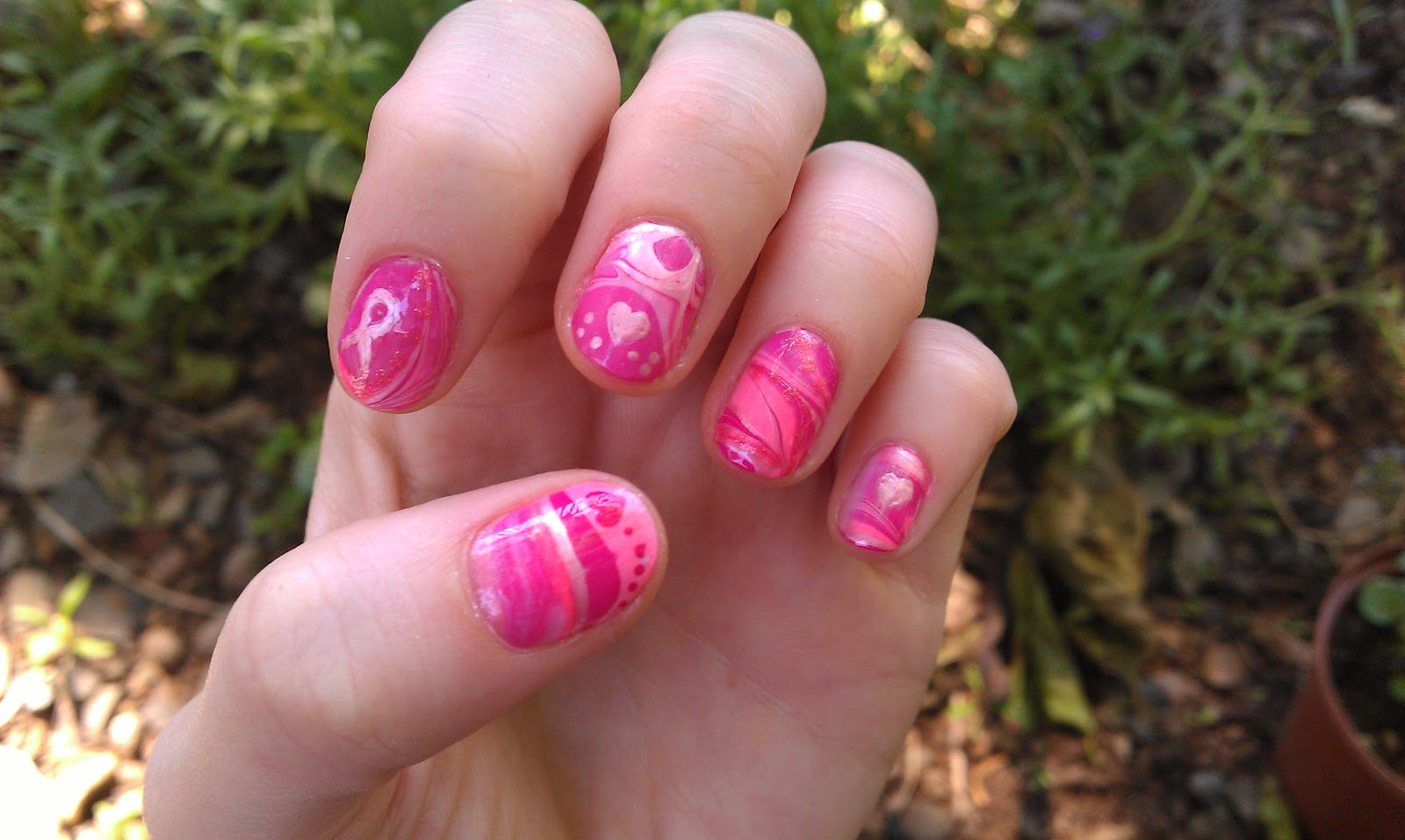 Miss Claira-Bella: Breast Cancer Awareness, Nail Art