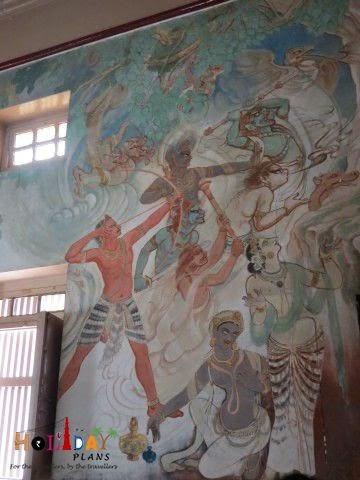 Fresco inside temple