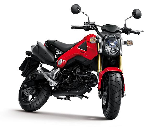 Honda MSX125 Motorcycle red