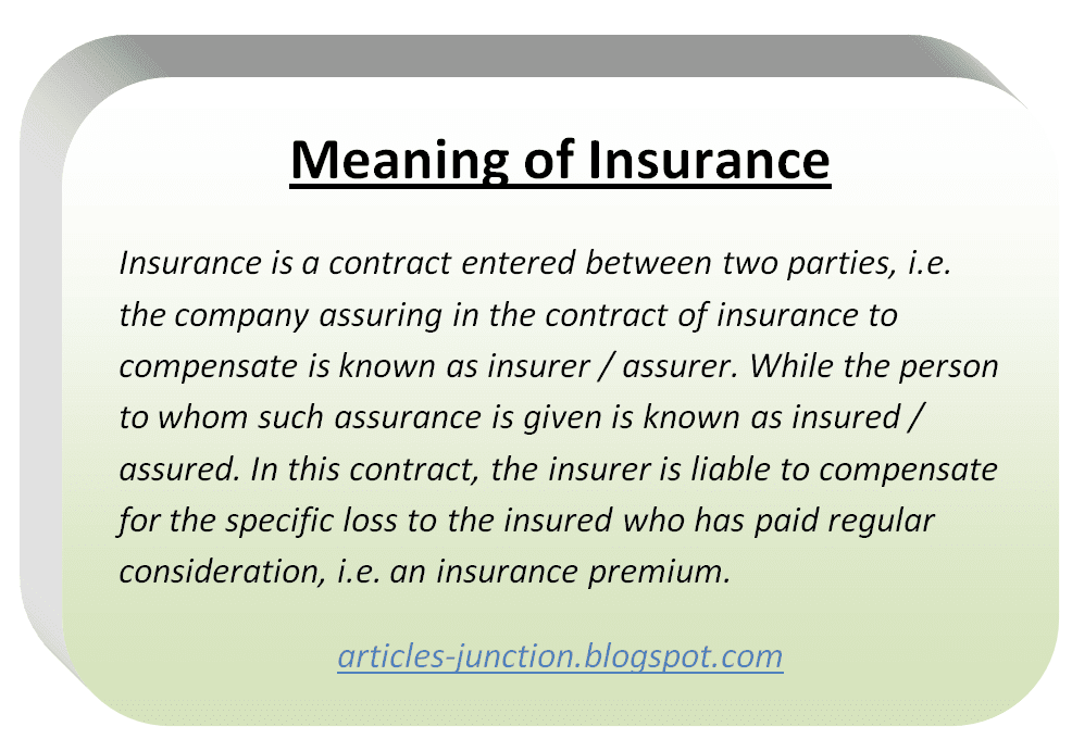 articles junction what is insurance meaning definition of insurance