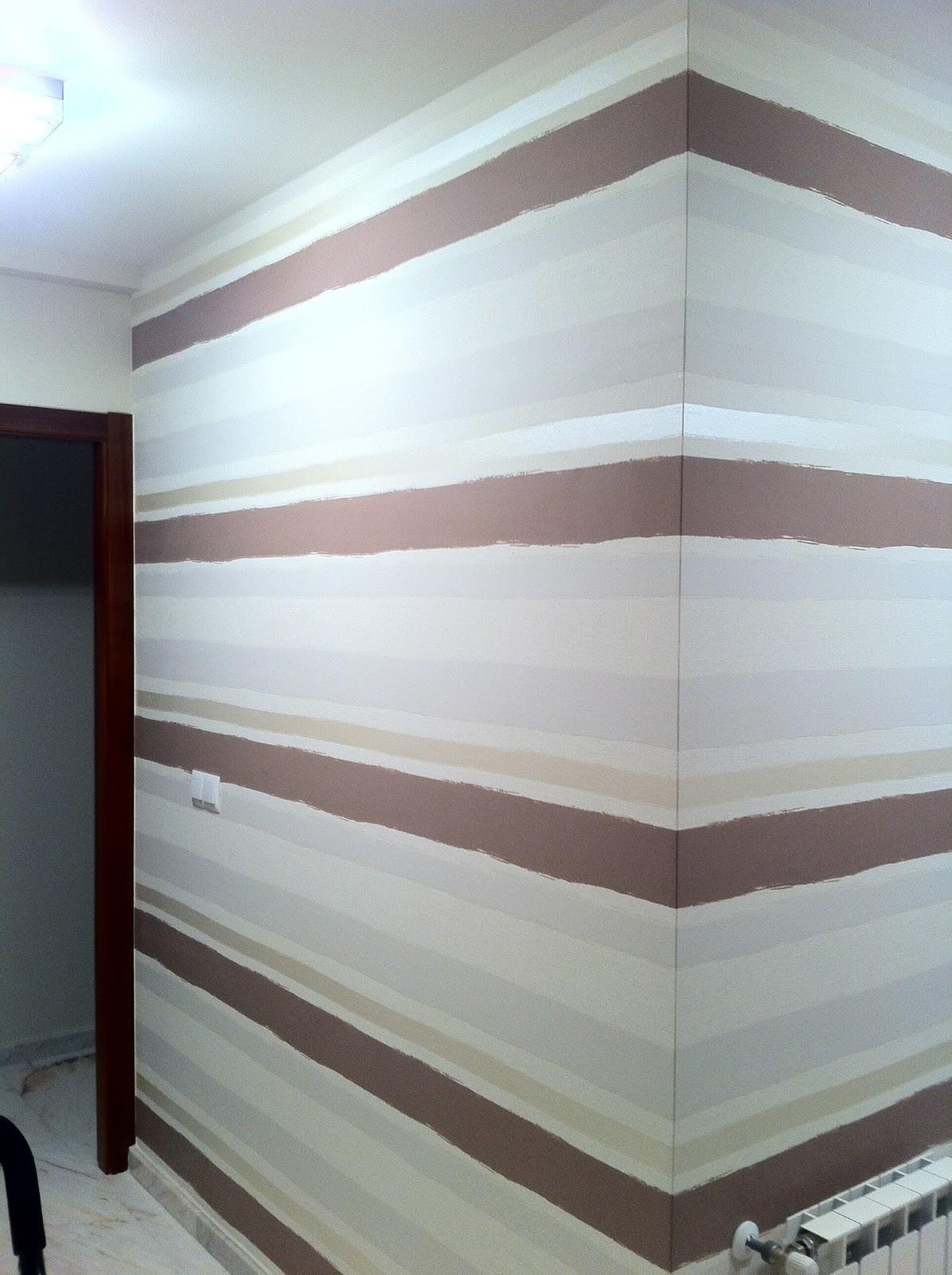 Papel pintado rayas horizontales alfer decoraci ns c b - Pintar paredes a rayas horizontales ...