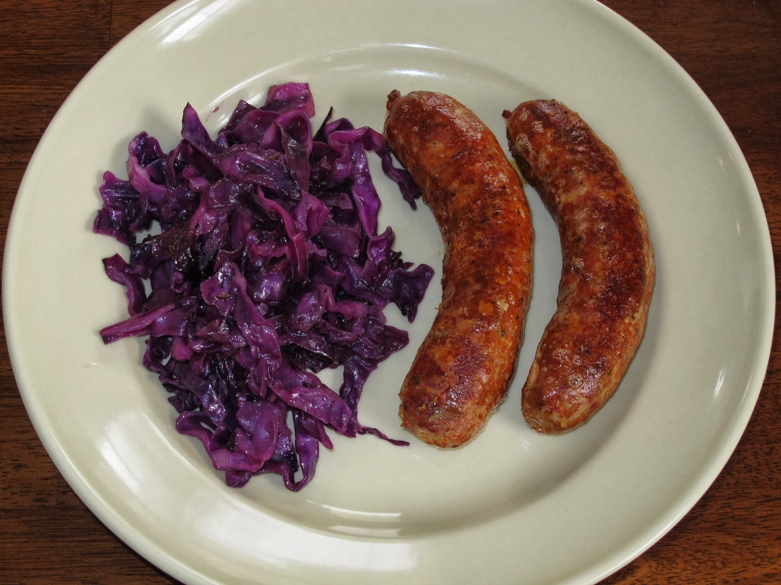 Roasted Bratwurst with Cabbage