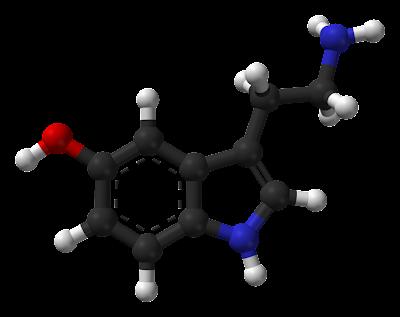 """هرمون السعادة """"هرمون السيروتونين"""" 757px-Serotonin-Spartan-HF-based-on-xtal-3D-balls-web.png"""