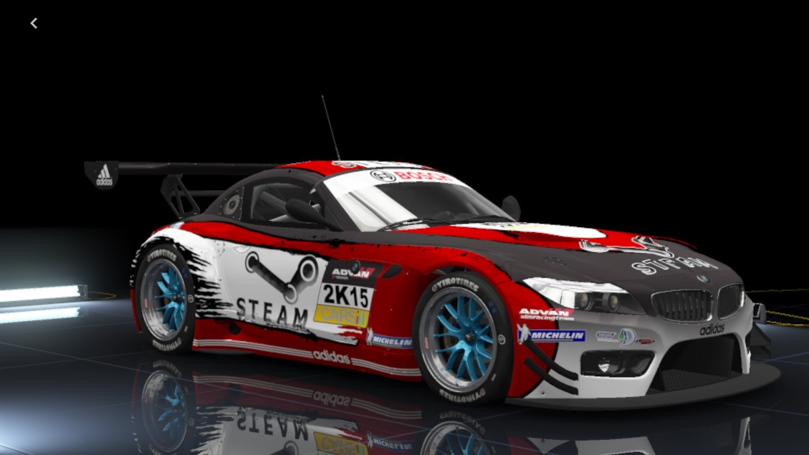 skins advan racing bmw z4 gt3 racedepartment. Black Bedroom Furniture Sets. Home Design Ideas