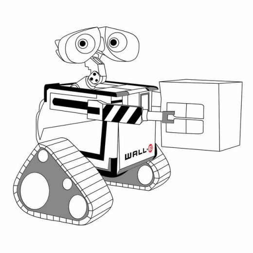 Fun Coloring Pages Disney WallE