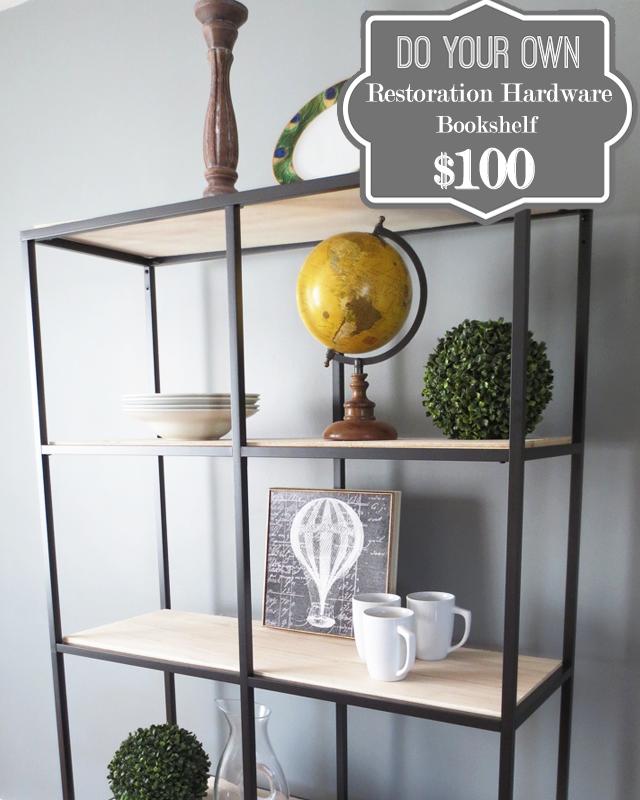 DIY $100 Restoration Hardware Bookshelf