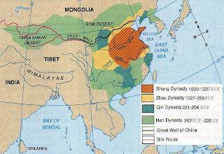 peta dinasti cina kuno