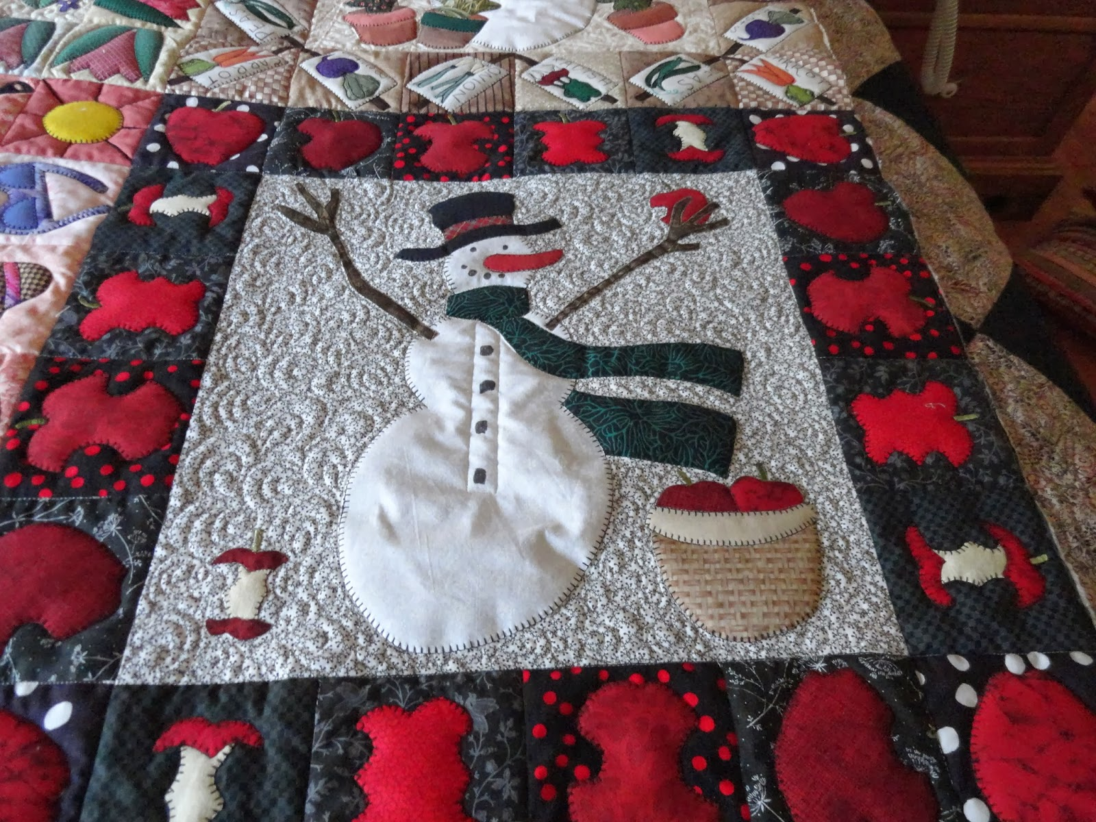 Tennessee Quilter Snowman Quilt Finished
