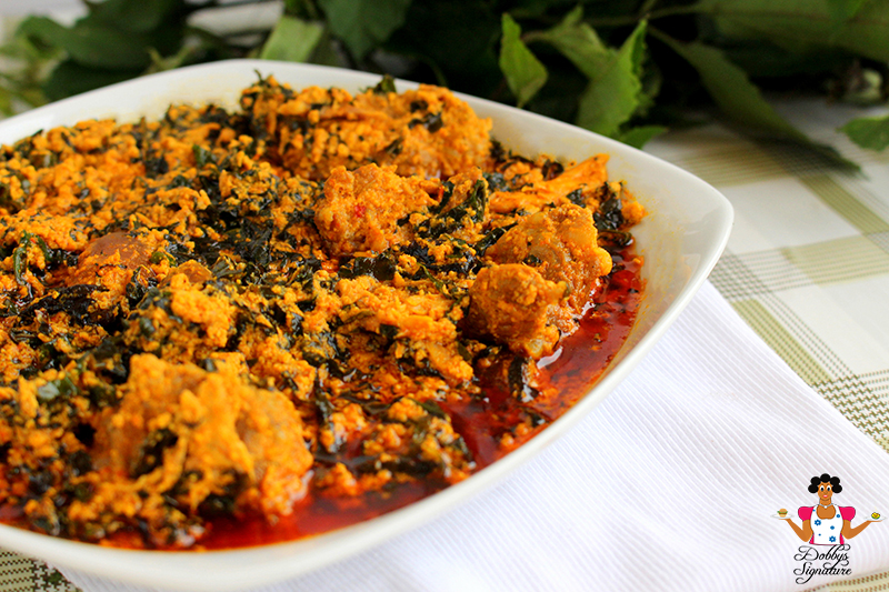 Dobbys signature nigerian food blog i nigerian food recipes i egusi melon soup with ugu forumfinder Choice Image