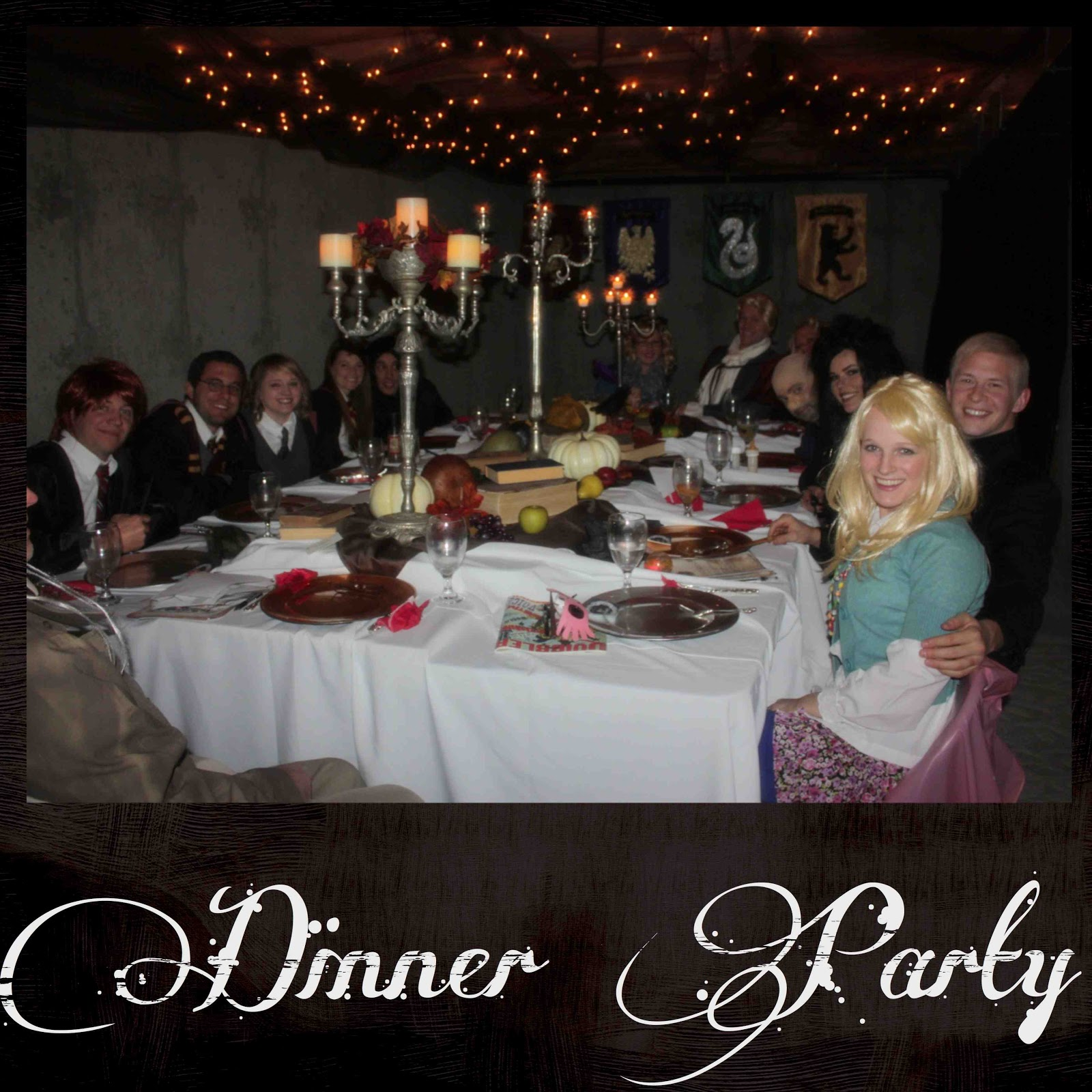 Just sweet and simple harry potter mystery dinner party for Secret dinner party