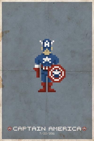 8-bit Captain America