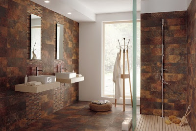 dark brown ceramic wall floor tiles bathroom