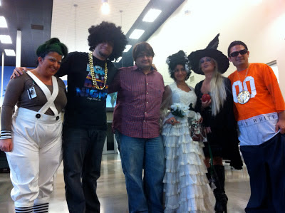 GotPrint staff wearing Halloween costumes