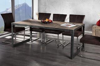 luxusne stoly z kovu, jedalenske kovove stoly, drevene stoly do kuchyne