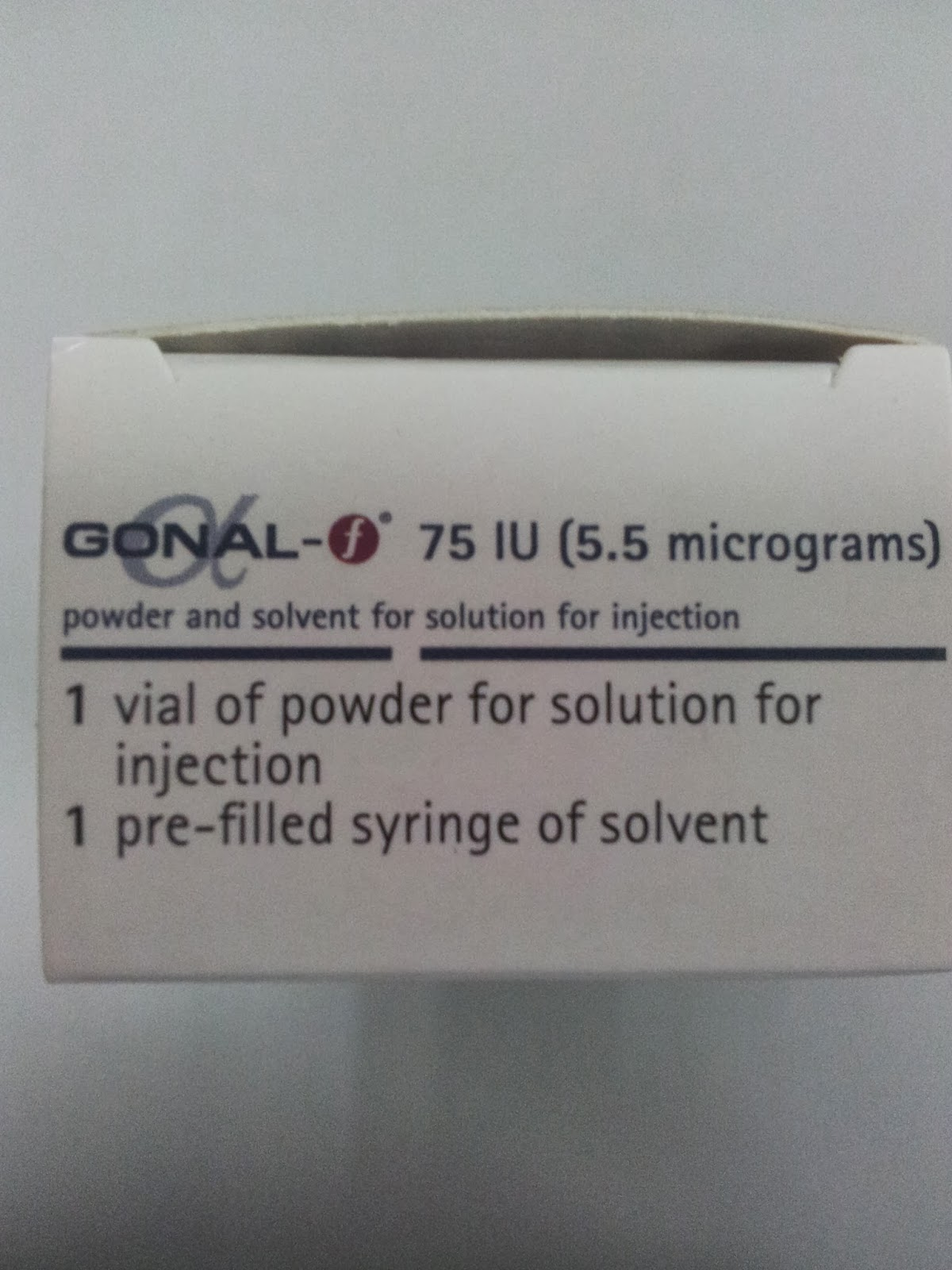 Gonal f injection and clomid
