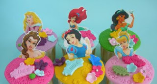 Cupcakes o Magdalenas de las Princesas de Disney para Fiestas Infantiles, parte 2