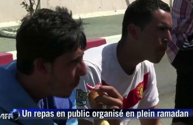 Algerians protesting the Ramadan fast.