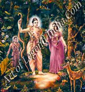 Ram, Sita and Lakshman