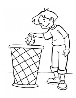 keeping earth clean is the duty of every citizens coloring pages