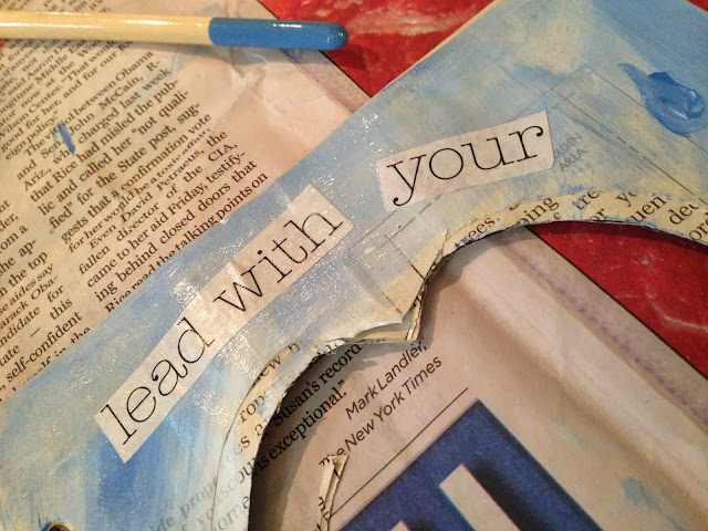 Altered book project - 3 -D page