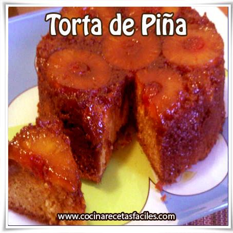 Recetas de tortas y pasteles , receta de torta de piña