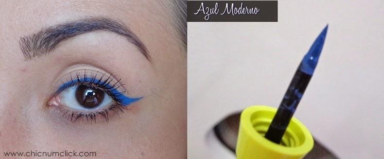 Delineado Gatinho Azul