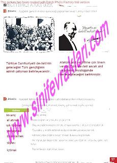 8.Sinif Turkce Enderun Yayinlari Calisma Kitabi Cevaplari Sayfa 57